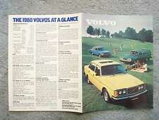 1980 VOLVO BROCHURE   9 OUT OF 10 VOLVO OWNERS ARE HAPPY WITH THEIR CARS