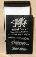 WelshNATIONAL ANTHEM design crafted WELSH SLATE PLAQUE,Shelf-sitter, Cymru/Wales