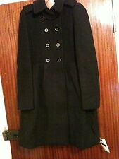 Miu Miu Women's Black Wool Coat Size IT 44