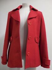 ladies L. K. Bennett warm wool jacket red made in Italy UK 14 USA 10 EUR 42