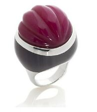 Rarities Fine Jewelry w/ Carol Brodie Carved Red Agate Sterling Silver Ring Sz 6