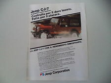 advertising Pubblicità 1982 JEEP CJ-7 CJ7 RENEGADE