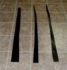 (QJE5329) Lot of 3 Heavy Weight Black Leather Strips