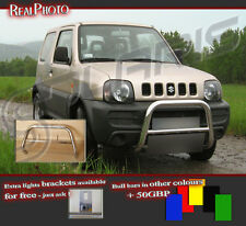 SUZUKI JIMNY 2006+ LOW BULL BAR WITHOUT AXLE BARS +GRATIS!! STAINLESS STEEL