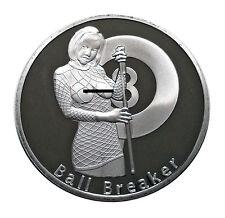 Ball Breaker Rack'em an Smack'em Heads & Tails Challenge Coin Art