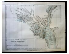 1891 Seton-Karr - UNCHARTED ALASKA - NW British Columbia - COLOR MAP - Chilcat 2