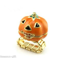 GIFT New Arrival Halloween pumpkin Christmas Elastic Ring Adjustable Gife Ring