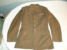 Vintage Authentic WWII Men's Army Green Dress Jacket - Medic - Patches - Ribbons