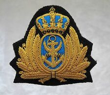 Royal Jordanian Navy Officer/Admirals Bullion Cap Badge