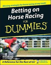 Betting on Horse Racing for Dummies® by Richard Eng (2005, Paperback)