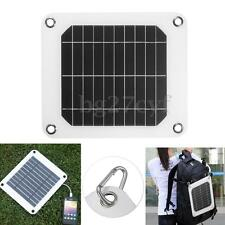5W/5V Solar Panel USB Port Battery Power Charging Kit Charger for iPhone Samsung