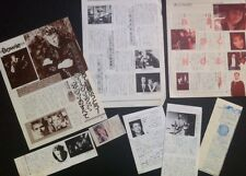 David Bowie Clipping JAPANESE 1990s articles,MUSIC LIFE ,magazine,Scrapbook,RARE