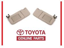 2007-2011 Toyota Camry Tan SUN VISOR Set Right & Left WITHOUT Vanity Light