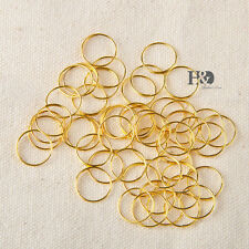100pcs Gold Ring Circle connector crystal prisms of chandelier lamp parts 12mm