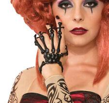 Negro mano de esqueleto Joyas Pulsera un Tamaño Adulto Halloween Disfraz