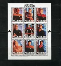 ST. VINCENT GRENADINES  STAR TREK  VOYAGER  SHEET OF NINE MINT NH