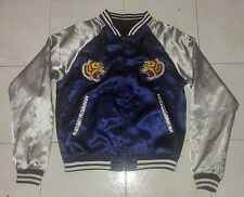 VINTAGE 80'S SUKAJAN MEN SMALL RIVERSIBLE SOUVENIR JACKET TORA DRAGON RYU YAKUZA