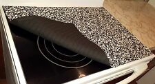 Black & White Floral Damask Glass Stove top / Cook top Cover & Protector