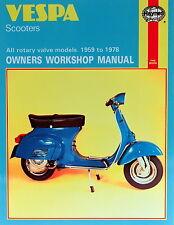 Haynes Manual 0126 - Vespa Scooters (59 - 78) workshop, service & repair