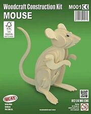 Mouse Woodcraft Construction Kit - Animal 3D Wooden Model Puzzle For KIDS/ADULTS