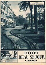 06 CANNES PARC HOTEL BEAU SEJOUR PUBLICITE PUB 1930