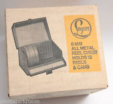 Logan #185 8mm 400' Reel Chest - Holds 12 Movie Reels with Cans - NEW Old S6