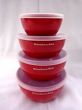 KITCHENAID Set of 4  NESTING STORAGE BOWLS with Lids 1-4 cup Capacity