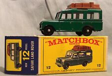 Matchbox Lesney no. 12, Safari Land Rover Green, MIB, original box