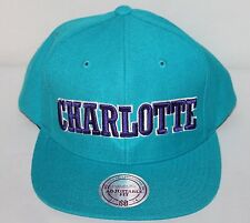 Charlotte Hornets Mitchell & Ness Snapback Cap New with Tags
