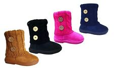 Wholesale lot 36 pairs Toddler Kid's 2 Button Knitting Boot Fashion Shoes--285B