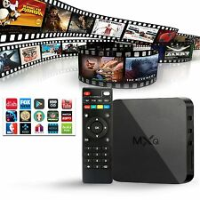 MXQ Android TV Box Media Player KODI XBMC Free Movies Sport Channel Fully Loaded