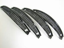 Set of 4 Black Long Plastic Banana Hair Clips KT16