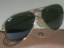 58[]14MM VINTAGE B&L RAY BAN MADE IN USA G15 GOLD-PLATE TEAR AVIATOR SUNGLASSES