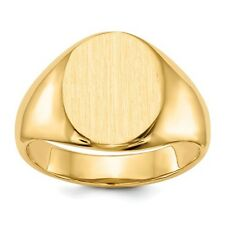 14k Yellow Gold Engravable Signet Ring (13.5mm x 10.7mm face)