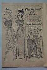 """"""" FEMMES D'AUJOURD'HUI """" PATRON SUPPL. N°417 // CHEMISE DE NUIT D'ETE T42 44 46"""