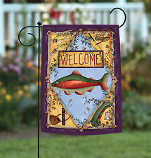 NEW Toland - Rainbow Trout - Welcome Fish Canoe Outdoors Fishing Garden Flag