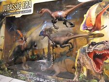 TOY DINOSAUR FIGURES LARGE BOXED SET OF DINOSAURS REALISTIC inc T REX + RAPTOR