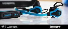 100% GENUINE SMS Audio BioSport Earphones Blue Biometric With Heart Monitor BRAN