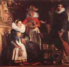 Jacob Jordaens The Family Of The Artist A3 Box Canvas