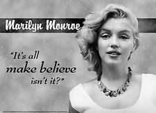 Marilyn Monroe All Make Believe metal sign    (de)