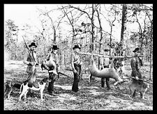 "Deer Hunting, Hounds Dogs, Pointers 15""x11"" Giclee print / photo 1922, rifle,gun"