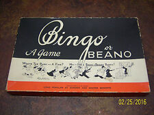 Vintage Bingo Board Game Beano Parker Brothers Wall Art Decor Neat Old 30s 40s