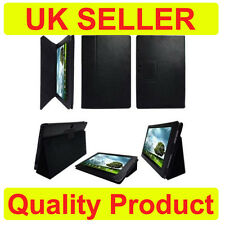 BLACK WALLET LEATHER CASE / STAND FOR ASUS TRANSFORMER TF201 EeePAD PRIME TABLET