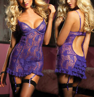 Sexy Lingerie Babydoll Chemise Underwear Plus Size 6 8 10 12 14 16 18 20 22 24