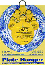 "Disc Adhesive Plate Hangers Small Assorted Set of 2x1,25"", 2x2"", and 2x3"""