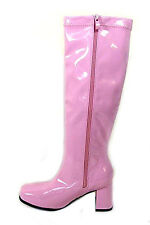 WOMEN'S LADIES FANCY DRESS 70S & 1960'S KNEE HIGH GO GO RETRO BOOTS SIZE  4 TO 8