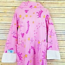 Snuggie For Kids Pink Princess Blanket With Sleeves Crown Heart Stars Girl Robe
