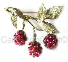Raspberry Garnet Brooch Pin By Michael Michaud For Silver Seasons