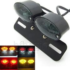 Moto Feu arrière Tail light LED pour Bobber Chopper Rat Custom Blk Universel