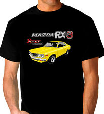 MAZDA  RX3  COUPE   ROTARY  RE10 12A 13B  BLACK  T-SHIRT